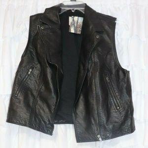 Silence + Noise vegan leather vest - L